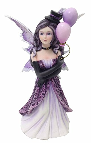 Purple Color Fairy Dress with Balloons Show Girl Figure Embellishment