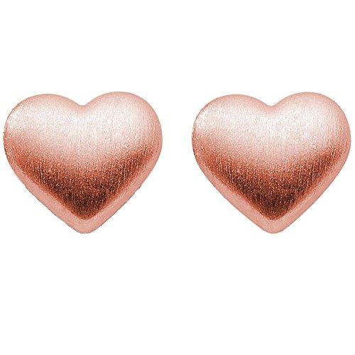 """Kleine Ohrstecker Herz Ohrstecker Rotgoldohrstecker – inkl. Luxusetui mit Gravur""""Ich liebe Dich"""" + – Herz Ohrringe Ohr Stecker Ohr Ringe Gold hochwertig vergoldet FF133 VGRT"""