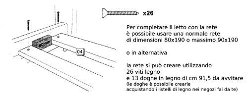Dimensioni Letto Singolo Cameretta.Mobili Cameretta Bambina Letto Singolo 190 80