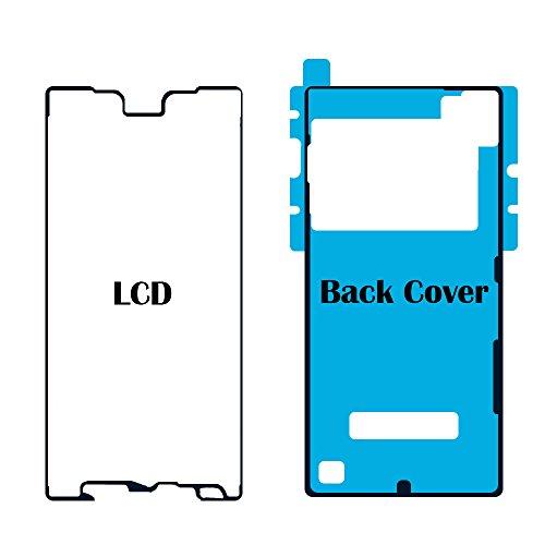 MMOBIEL Set de 2 Etiquetas/Folios Adhesivos Delantero y Trasero para Sony Xperia Z5 Resistentes al Agua Impermeables para la Pantalla Delantera y Tapa Trasera de la batería