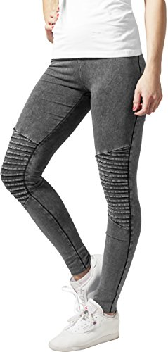 Urban Classics Damen Sport Legging Leggings Denim Jersey grau (Darkgrey) Medium