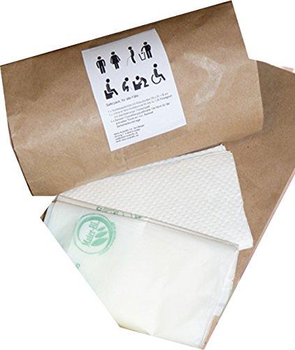 Notfallset Bedwell Toilettenbeutel mit Superabsorber Gel Einlage + Notfalltüte
