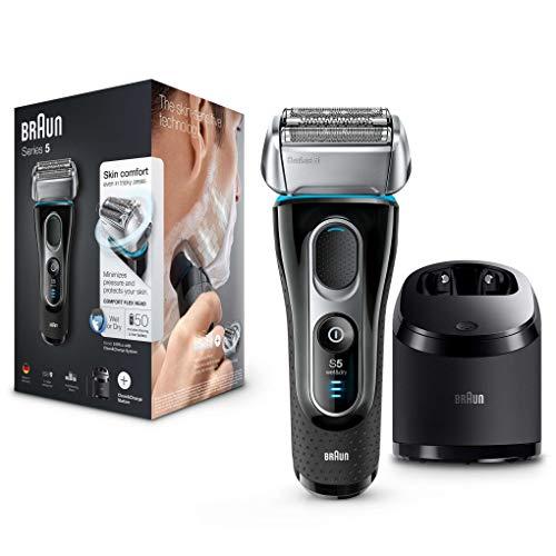 Braun Series 5 5197 cc - Afeitadora eléctrica hombre, afeitadora barba, en húmedo y seco, máquina de afeitar barba con recortadora de precisión, Clean&Charge, negro