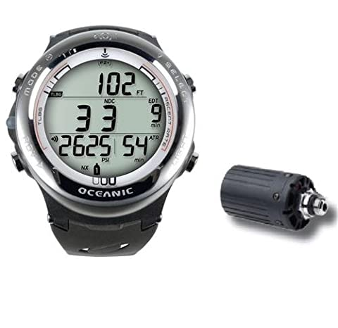 Oceanic Atom 3.1Dive Computer with Transmitter and USB/Oceanlog 04/8366/24–White M