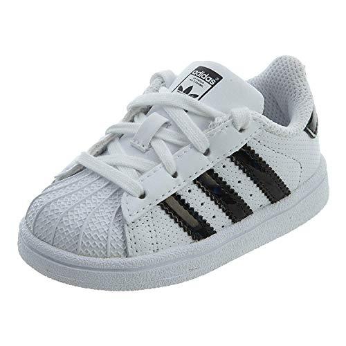 adidas Originals Superstar Sneaker, Unisex, Kinder, Weiß, Größe XXL, Mehrfarbig - weiß/schwarz - Größe: 7.5 Toddler M (Sneaker Adidas Toddler)
