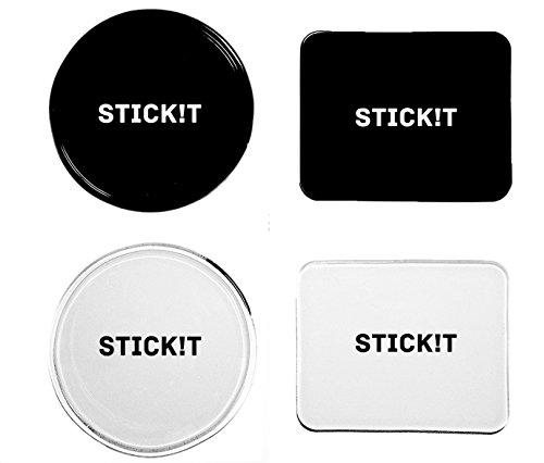 [4er Pack] Gel Pads von Stick!t • starker Halt durch verbesserte Nanotechnologie • Gel Pad klebt auf sämtlichen Oberflächen • optimal fürs Auto-Armaturenbrett oder als Navi-Halterung (Rund & Rechteck) Test