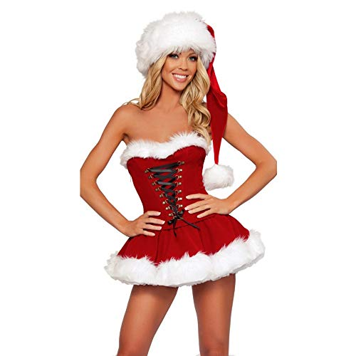 Olydmsky Weihnachtskostüm Damen,Ich Kostüm Weihnachten Zeigen Adult Christmas Kostüm Weihnachten Kostümset