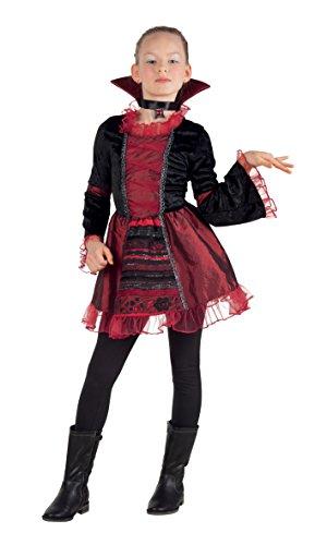 Boland Costume Bambina Vampire Empress, Rosso/Nero, 10-12 Anni, 78056