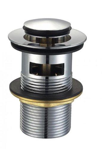 Universal Push Open Ablaufgarnitur POP UP Ventil für Waschtisch Waschbecken G 1 1/4