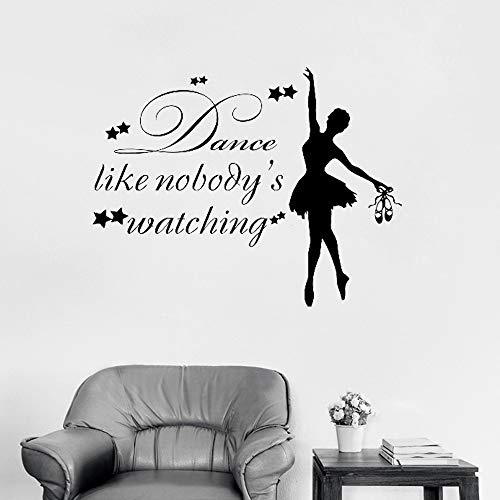 72x56 cm Wandaufkleber Für Küche, Mädchen Tänzerin Tanz Wie Niemandes Wathing Ballerina Ballett Gymnastic Wallpaper Decals Für Bild Decor Schlafzimmer Hause