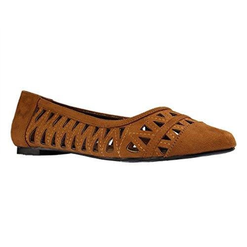 ANDRÉS MACHADO - Damen Ballerinas - Braun Schuhe in Übergrößen Braun