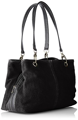 Chicca Borse Damen 10028 Shopper, 32x20x14 Cm Schwarz (nero)