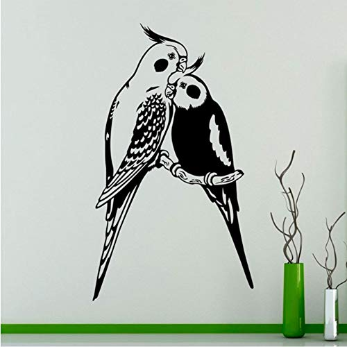 Ajcwhml Brids Wandkunst Aufkleber Paare Papageien Exotische Vögel Vinyl Aufkleber Home Interior Wandkunst Dekor Ideen Raumdekoration 42 * 73Cm