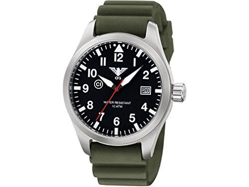 KHS Mens Watch Airleader Steel KHS.AIRS.DO