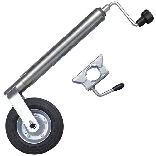 Preisvergleich Produktbild Festnight 48 mm Anhänger Stützrad aus Verzinkter Stahl mit 1 Klemmhalter Max. Belastung 150 kg