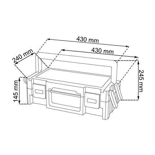 KETER 220239 Werkzeugkasten Cantilever, 19 Stück