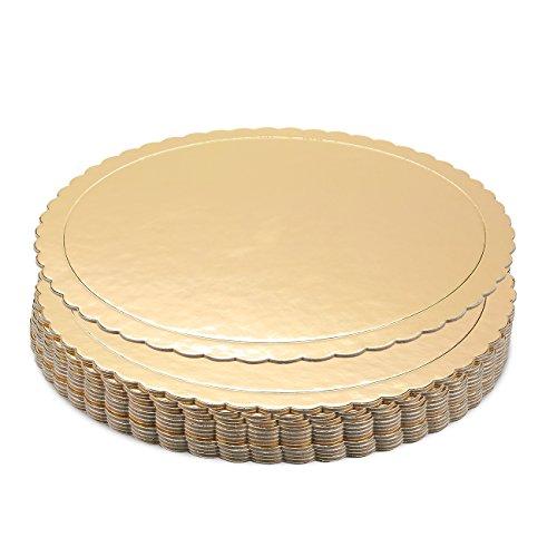 Bandejas tartas-Vajilla cartón Scalloped Cake