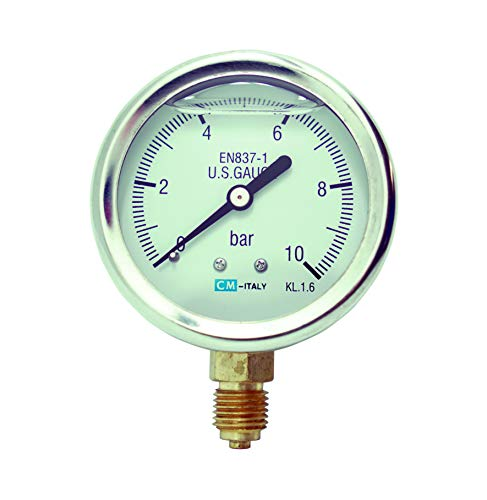 Manometer, NG63 Ø63mm, 0-10bar G1/4