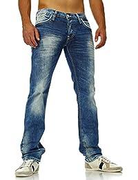 Amica Jeans - Jeans délavé homme coupe droite Jeans AM9653 bleu - Bleu