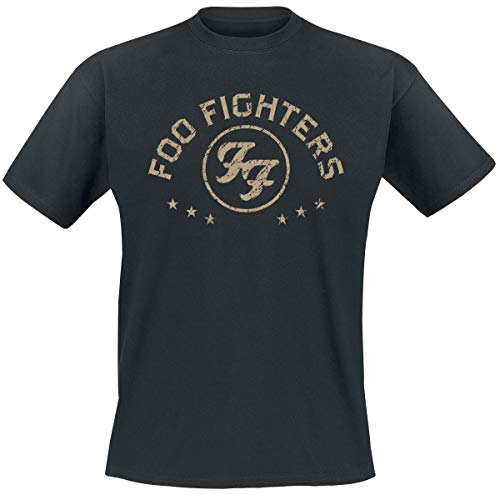 Foo Fighters Arched Star Camiseta Negro M