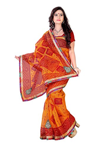 Snova Cotton Silk Saree (Akr1116_16_16_Orange)