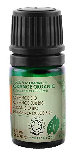 Naissance Orangenöl, süß 10ml BIO zertifiziert 100% naturreines ätherisches Öl (Rose Geranie ätherisches öl)