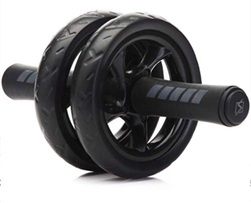 WHNN Bauchrad 2019Muskel-Trainingsgeräte Heimfitnessgeräte Double Wheel Abdominal Power Wheel Ab Roller Gym Rollentrainer Training Schwarz
