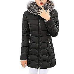 Theshy Damen Winterjacke Wintermantel Daunenjacke Jacke Outwear Frauen Winter Warm Daunenmantel Arbeiten Sie Festen BeiläUfigen Dickeren DüNnen Mantel Um Mit Kapuze Dicke Baumwolle