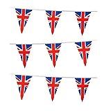 70m Unión Jack 50juegos olímpicos de triángulo banderines de plástico bandera de Gran Bretaña