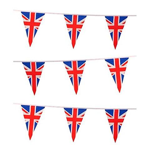 21,3 m Union Jack 50 fanions Triangle Plastique Jeux Olympiques Drapeau de la Grande-Bretagne