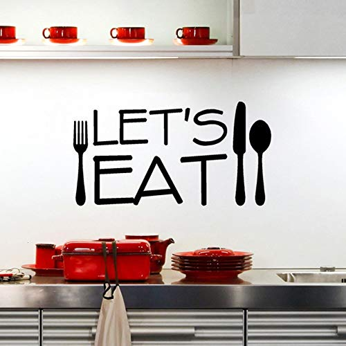 58X30 cm, Wandaufkleber, Inspirierende Aufkleber, Kreative Lassen Sie uns Essen Küche Schriftzug Zitat Restaurant Dekorative Aufkleber Schlafzimmer Wand Krankenschwester Poster Bild Jugend -