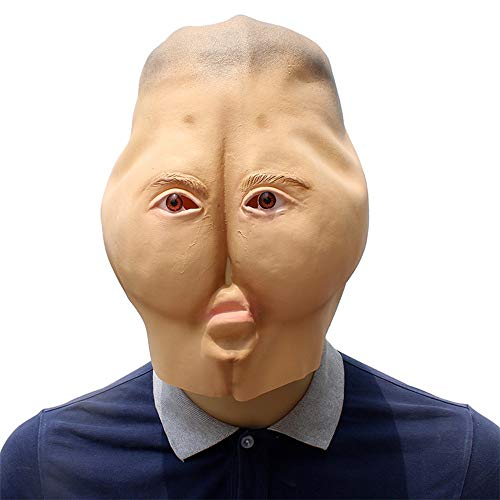 Ass Kopf Maske Realistische Latex Gesichtsmaske Halloween Cosplay Kostüm Weihnachtsfeier Rollenspiele Spielzeug (Color : Beige, Size : One size)