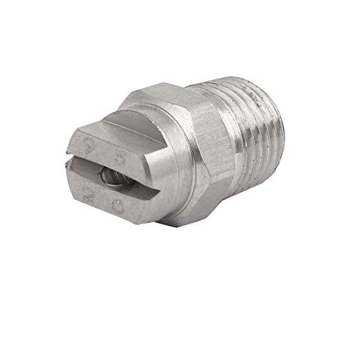 sourcingmap® orifice 2,8 mm 1/4BSP dia 95 pulvérisation acier inoxydable Degré Buse pulvérisation à jet plat