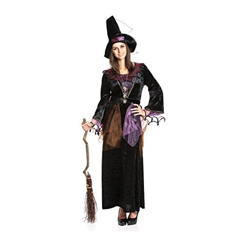 Kostümplanet® Hexen-Kostüm + Hexen-Hut Damen lila Hexe Größe ()
