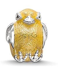 Thomas Sabo Femmes-Bead Poussin Karma Beads Argent Sterling 925 jaune Oxyde de Zirconium noir K0198-041-4