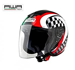 Awa Tech Casque jet Full Jet Graphic, tailles : XL