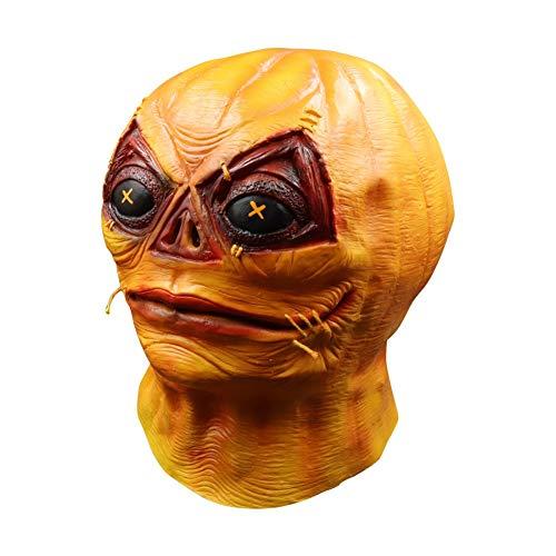 Halloween Horror Kürbis Latex Maske Vollgesichtsbedeckt Für Erwachsene Und Kinder Cosplay Streich Requisiten von Iswell (Kinder Kürbis-maske Für)