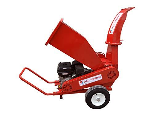 HZC Power Benzinmotor Benzin Holz Häcksler Schredder Garten Gartenhäcksler Gartenschredder Holzhäcksler Holzschredder Weich- & Hartholz SR180