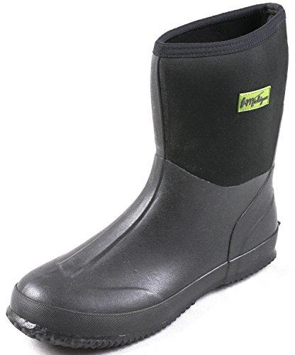 2b6c266dd Michigan Black Neoprene Waterproof Outdoor Garden Wellington Muck Boots  Size 5