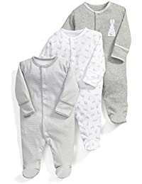 Mamas & Papas 3pk Bunny Aio-Grey, Polaina para Bebés, (lot de 3 )