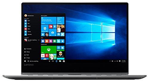 Lenovo YOGA 910 35,31cm (13,9 Zoll Full HD IPS) Slim Convertible Notebook (Intel Core i7-7500U, 16GB RAM, 512GB SSD, Intel HD Grafik 620, Windows 10 Home) silber