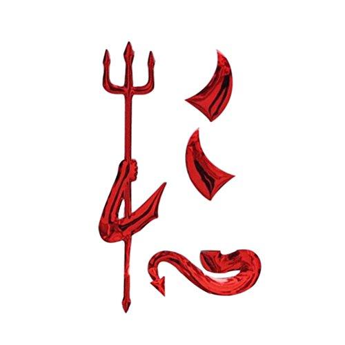 r 3D Metal Teufel Dämon Motor Emblem (Rot) ()
