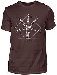 Shirtee Soporte de Mano acrobático Hombre de Vitruvio | Regalo para acróbatas y gimnastas - Camisa
