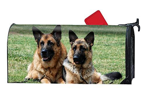 buxten Magnetbriefkastenabdeckung, Motiv: Dinosaurier Size Animal German Shepherd Dogs Grass5
