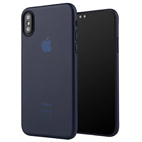 Liamoo Hülle kompatibel mit Apple iPhone XS & X Schutzhülle - Ultra dünn, leicht Case, Cover, edles Design - matt Blau Iphone Mobile-skin
