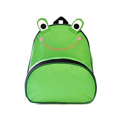 KS Brands Children's Novelty Frog 3D Backpack, Green/Black