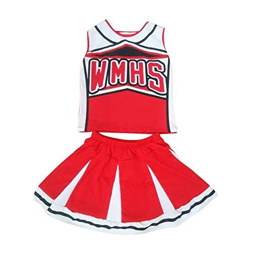 Huatime Cheerleader Kleidung Uniformen - Mädchen Straße Tanz Kostüme Cheerleader Phantasie Kleid Outfit Musical Fußball Sport Verein Halloween Kostüm