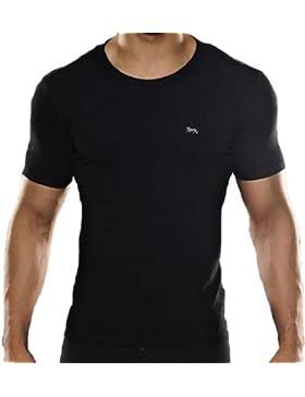 Camiseta Interior Lonsdale Hombres Camiseta Negra - Negra, L