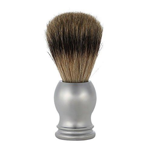 Anself peli di tasso puro professionale pennello da barba salone maniglia in acciaio inox barbiere uomini viso app pulizia barba in ANCE strumento di rasatura rasoio spazzola