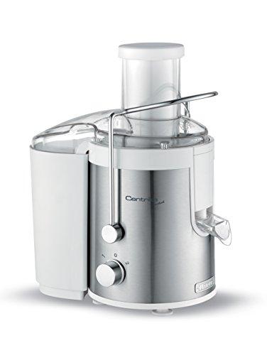 Ariete 173 centrika metal centrifuga compatta per succhi freschi e genuini, beccuccio salvagoccia, camino mela, acciaio inox, 700 w, bianco/acciaio